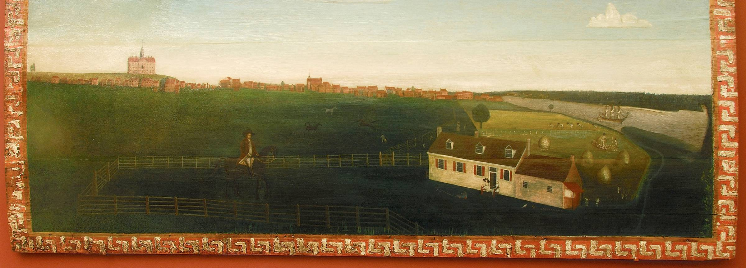 A View of Chestertown from White House Farm
