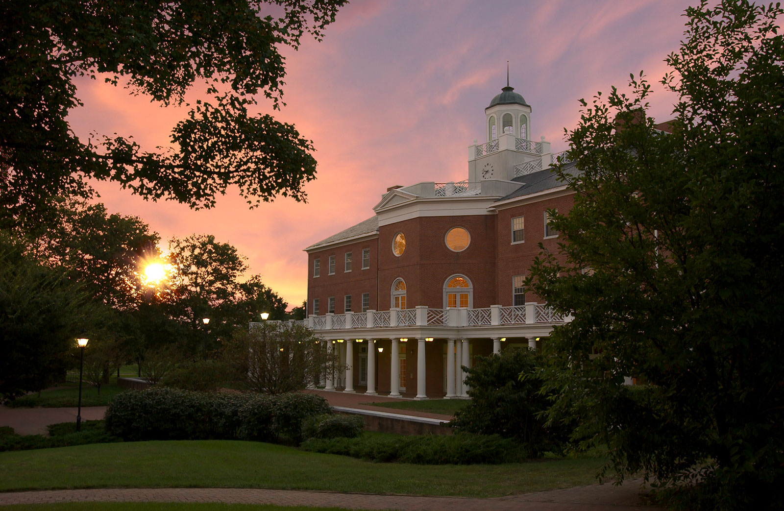 CAC at sunset