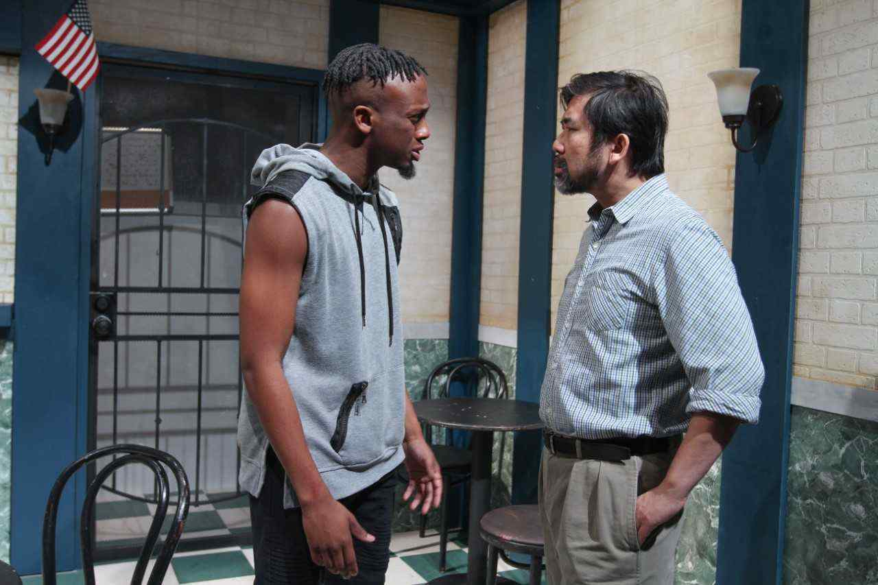 "Mark '18 (left) earned positive reviews for his role in ""Salt, Pepper, Ketchup"""